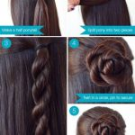 Quick and easy hair ideas #penteados #para #hair #elegante updo ...