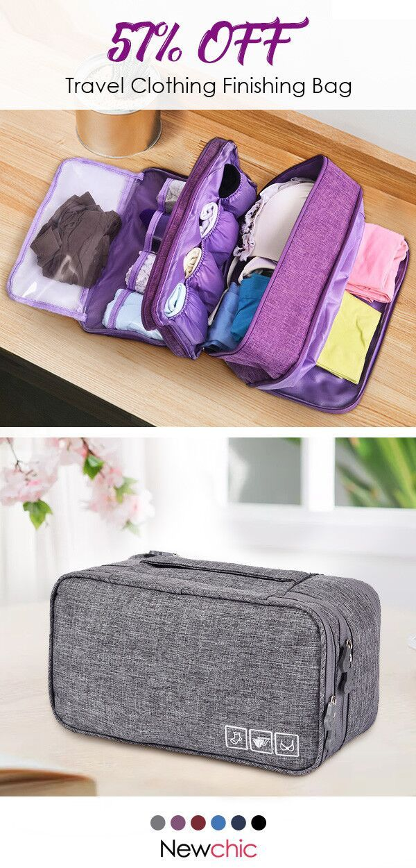 【57% off】Travel Clothing Finishing Bag Travel Clothes Underwear Bra Storage ...