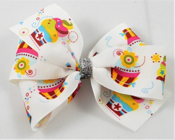 Cupcake Boutique Hair Bow, 5 inches wide