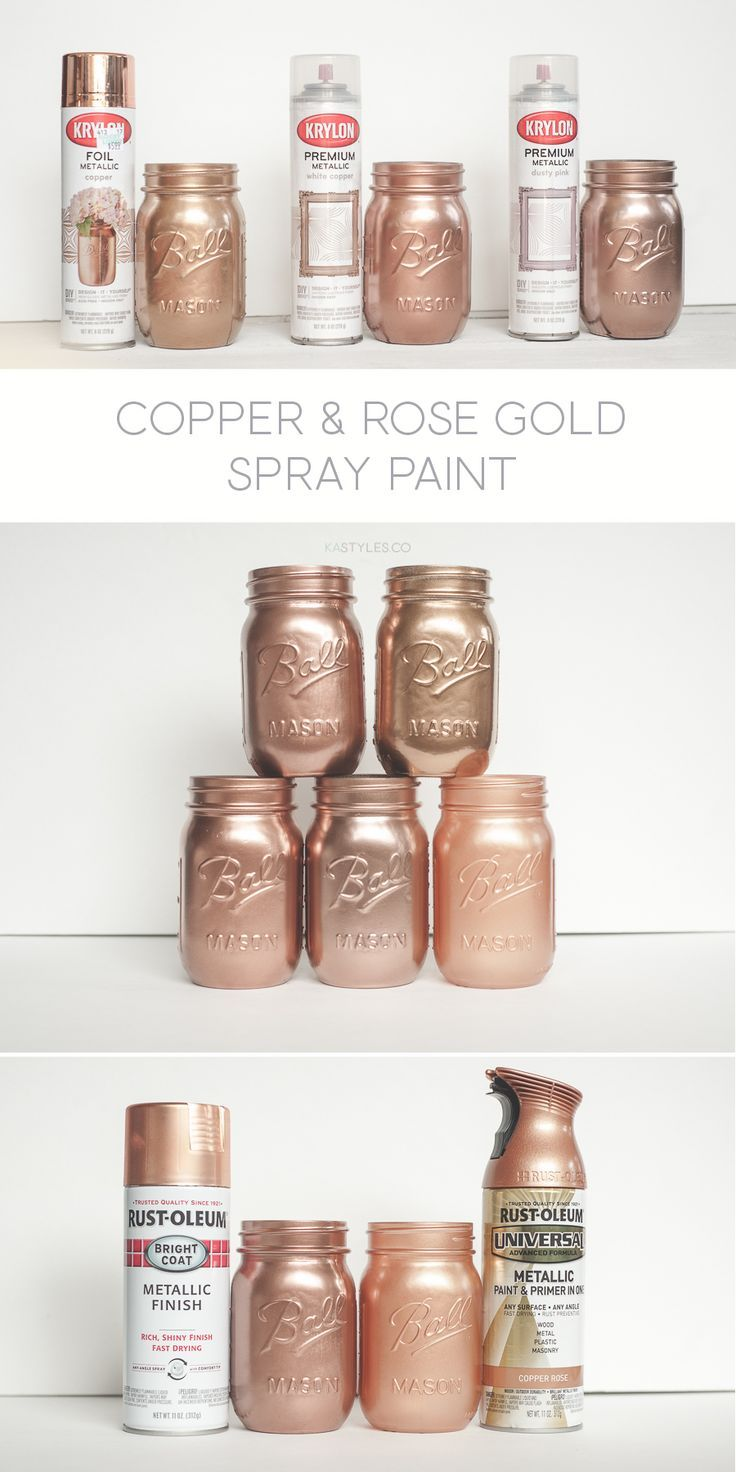 Krylon White Copper, Dusty Pink und Folie Metallic Copper. Rust-Oleum auch! #app...