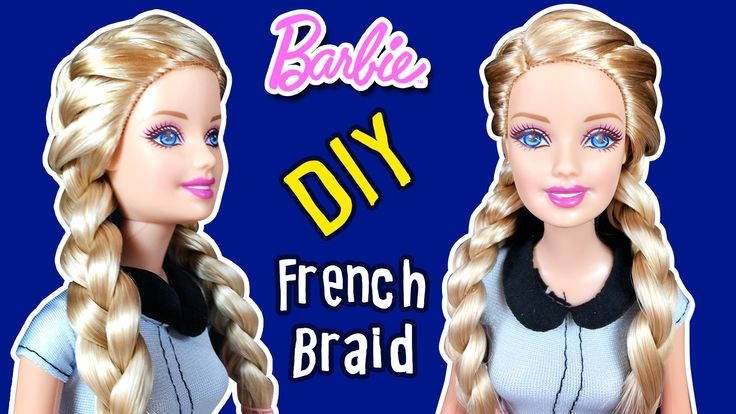 How to Braid Barbie Doll Hair - DIY - Double Sided French Dutch Braid Tu...