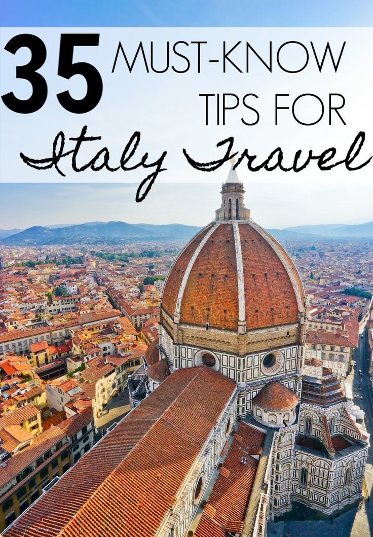 Looking for Italy travel tips? Here are 35 things you MUST know before traveling...