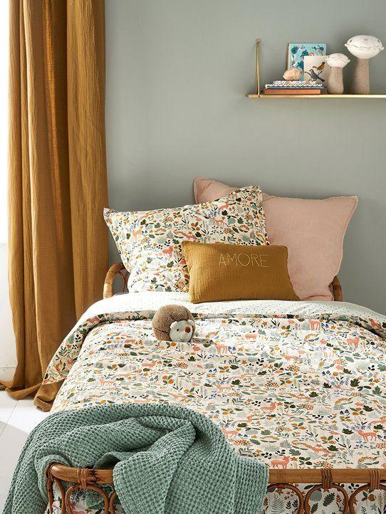 Duvet cover in cotton & Enchanted Forest & # 39; - White printed - 3