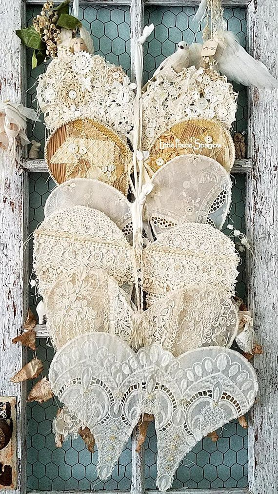 Lace Wire Wings Angel Wing Decor Shabby Chic Wedding Backdrop Brides Chair Flowe...