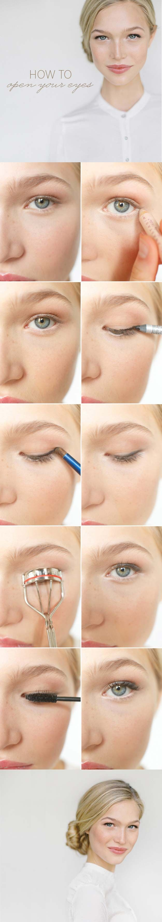 33 Makeup tips and tricks to make you look less tired - #look #with ...