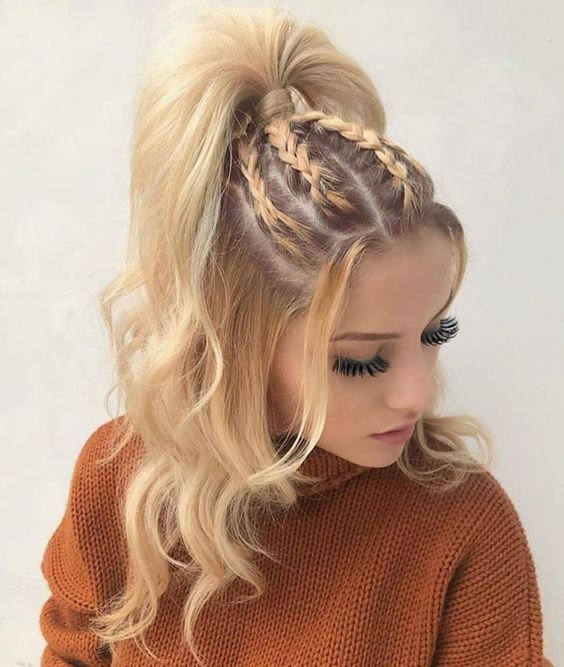 46 Glam Updo Ideas for Long Hair & Tutorials - # for #Glam #Hair #Ideen #lang ...