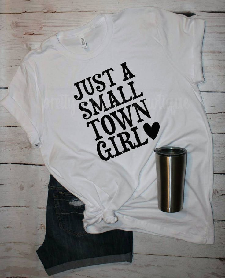 Just a small town, small town girl, journey shirt, small town, graphic tee, coun...
