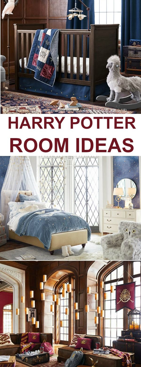 Harry Potter Room Ideas  Celebrate 20 years of Harry Potter with some fun room d...