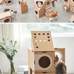 Design studio A Cat Thing have created a fun cardboard cat furniture that has a ...