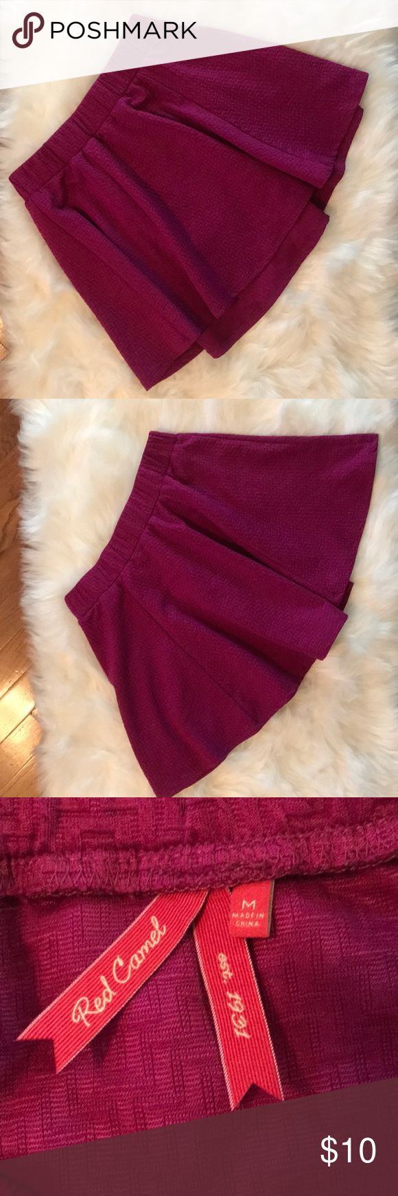 Red Camel Skater Skirt. Size: M Red Camel Skater Skirt. Size: M. Purple chevron ...