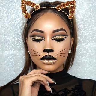 This pretty cat. | 21 ridiculously pretty make-up looks to this Hal ...