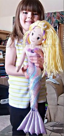 FOTO ------- sea sparkle mermaid doll! DIY Doll Hairstyle. diy dolls. #diy-fairy...