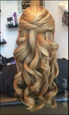 Hairstyles for Bride - Elegant Wedding Hairstyles with Curls #Wedding Hairstyles # ...