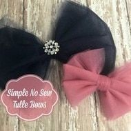 Tulle Hair Bow | How to make No Sew Tulle Bows in 7 Simple Steps