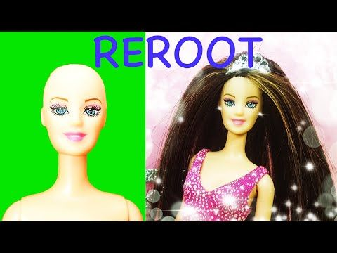 👸 Barbie Hair Cut and Reroot ✂️ Hair Transformation Tutorial 😍Diy Doll...