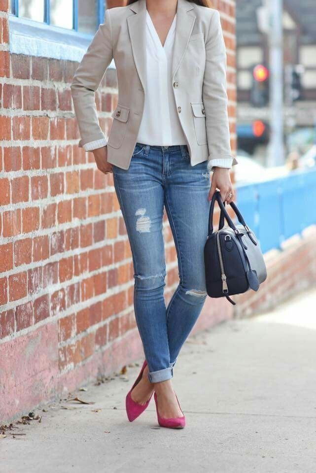 19 Casual Work Outfits For Hitting the Office Style - Casual Work Outfits ...