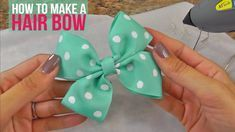 This has got to be one of the most simplest tutorials for making a hair bow..no ...
