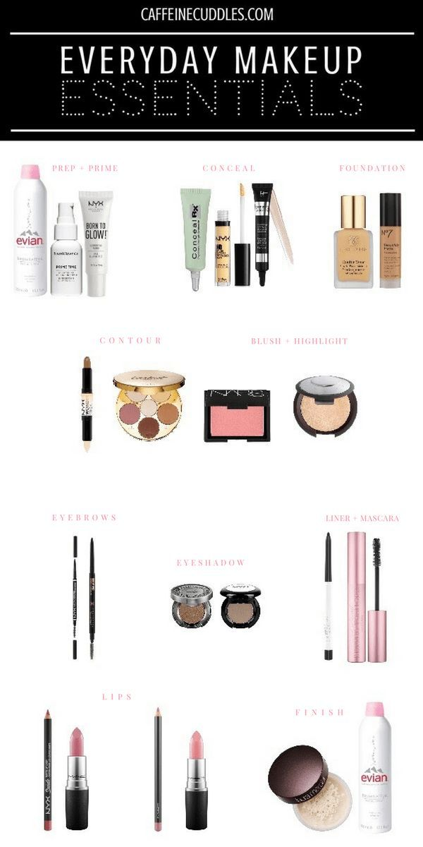 Everyday Makeup Essentials, must have Makeup Products, best makeup products for ...