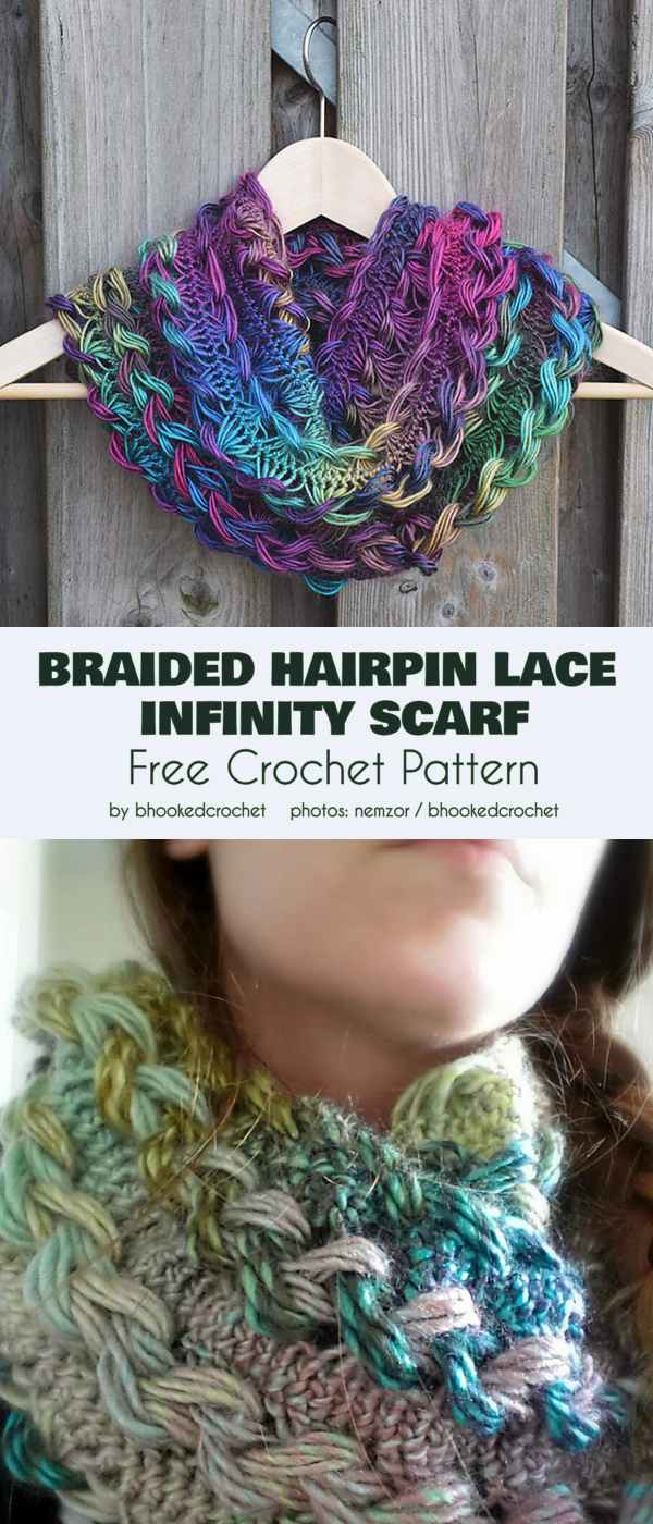 Colorful Infinity Scarf Free Crochet Patterns