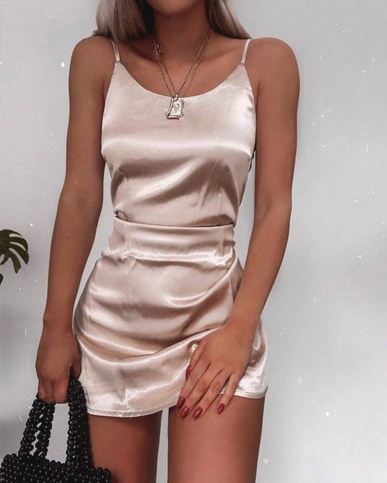 Slip Dress For New Year's Eve Party silky-slip-dress-new-years-eve-outfit-idea...
