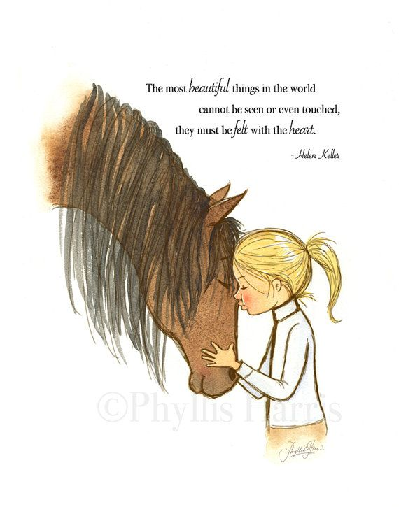Girl's Horse Wall Art- Customizable Hair Color - offered with or without text- Equestrian