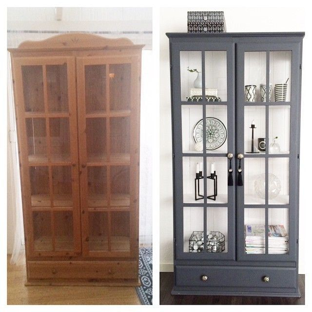 This Old Showcase I Painted About Has Become, #Blived #The #Old # Here #I # Paint ...